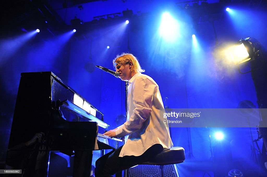 Tom Odell performs on stage at Shepherds Bush Empire on October 22 2013 in London England