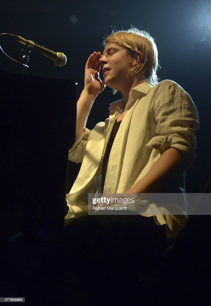 Tom Odell performs on stage at the Sala Apolo on March 11 2014 in Barcelona Spain