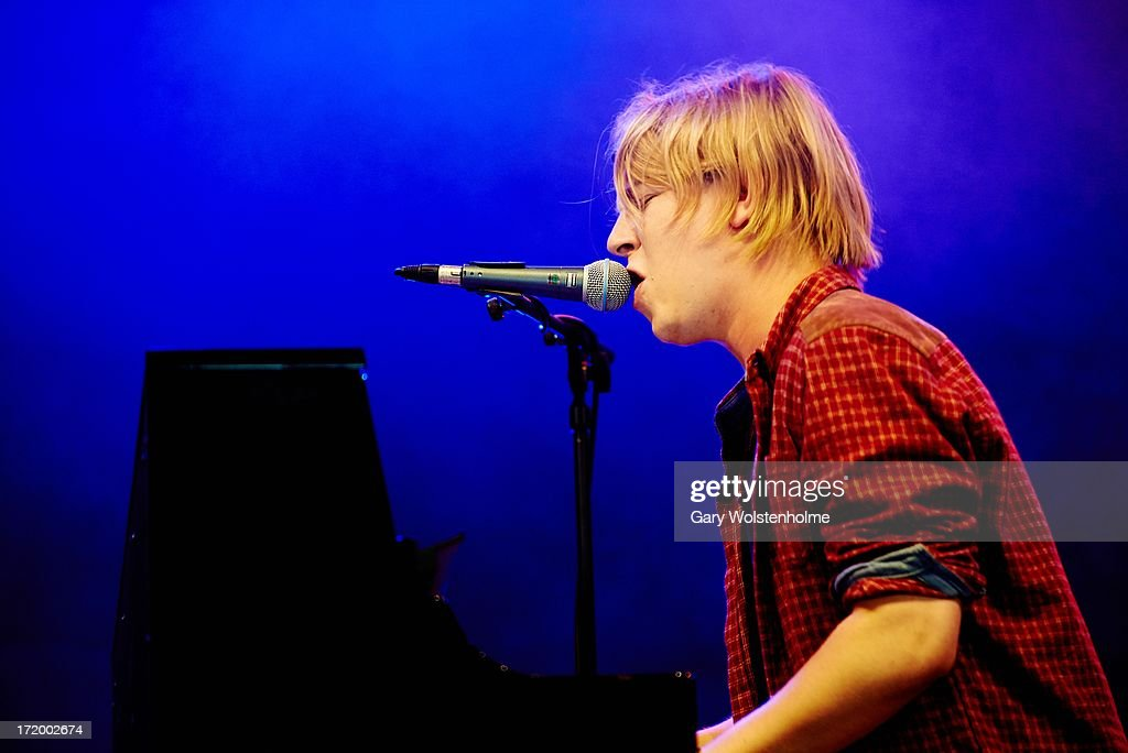 Tom Odell performs on stage on Day 4 of Glastonbury Festival at Worthy Farm on June 30, 2013 in Glastonbury, England.