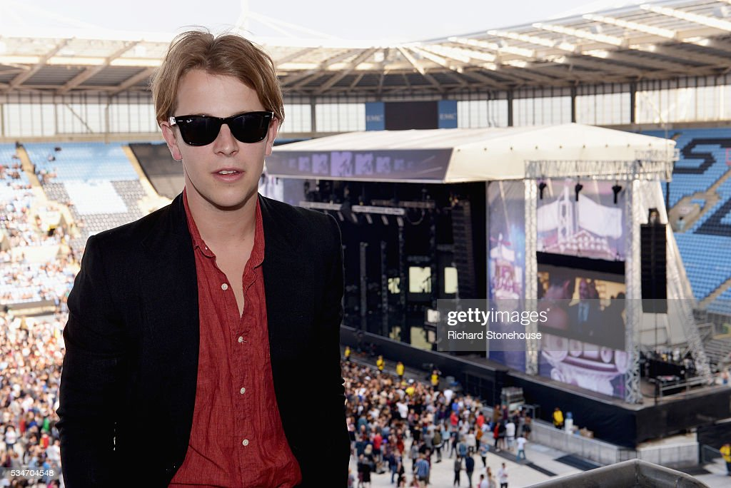 Tom Odell poses in the press room during 'MTV Crashes Coventry' at Ricoh Arena on May 27, 2016 in Coventry, England.
