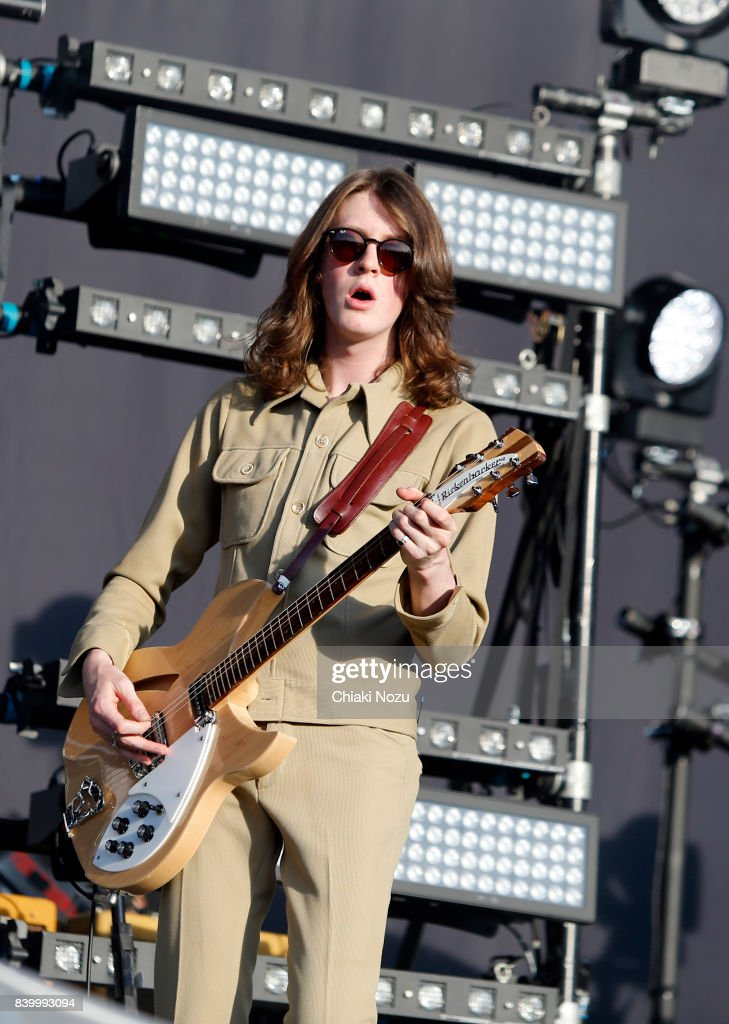 Tom Ogden of Blossoms performs at Reading Festival at Richfield Avenue on August 27, 2017 in Reading, England.