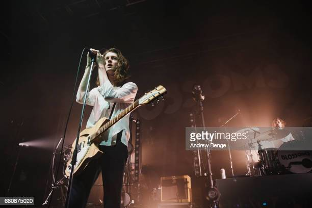 Tom Ogden of Blossoms performs at the VO5 NME Awards Tour 2017 at O2 Academy on March 30 2017 in Leeds United Kingdom