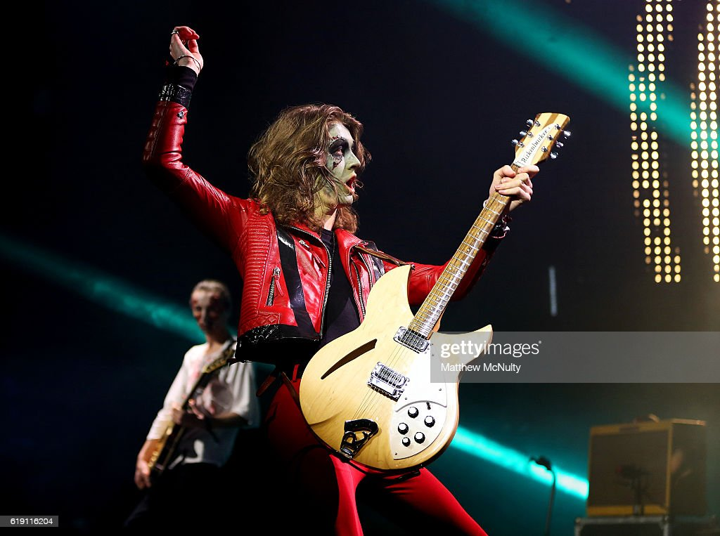 Tom Ogden of Blossoms performs at VEVO Halloween at Bramley-Moore Dock on October 29, 2016 in Liverpool, England.