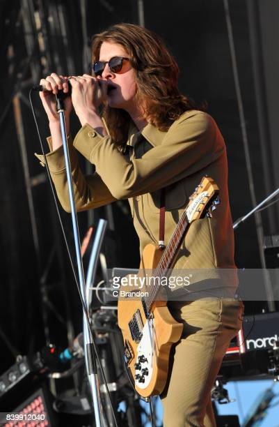 Tom Ogden of Blossoms performs on stage during Day 3 of the Reading Festival at Richfield Avenue on August 27 2017 in Reading England