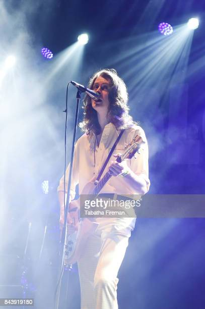 Tom Ogden of Blossoms performs on The Box stage on Day 1 at Bestival at Lulworth Castle on September 7 2017 in Wareham England