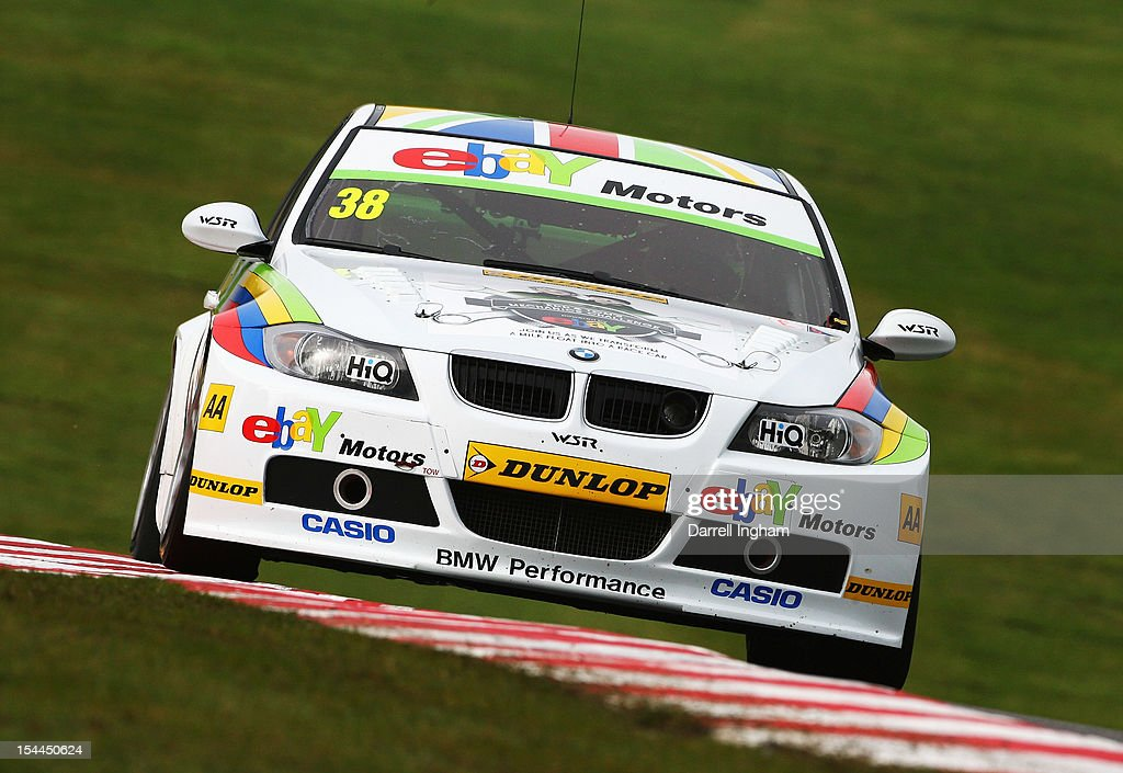 Tom Onslow-Cole of Great Britain drives the #38 eBay Motors BMW 320si during practice for the Dunlop MSA British Touring Car Championship race at the Brands Hatch Circuit on October 20, 2012 near Longfield, United Kingdom.
