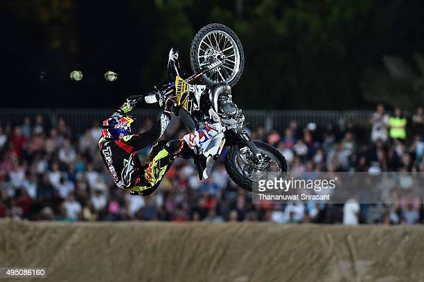 Tom Pages of France rides during the Red Bull XFighters World Tour 2015 on October 30 2015 in Abu Dhabi United Arab Emirates