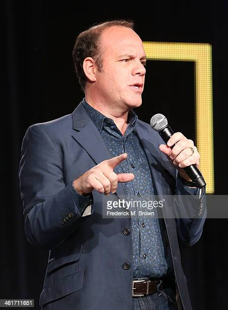 Tom Papa speaks onstage during the 'National Geographic Channel Engage Your Brain' panel discussion at the National Geographic Channels portion of...