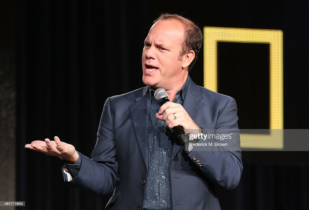 <a gi-track='captionPersonalityLinkClicked' href=/galleries/search?phrase=Tom+Papa&family=editorial&specificpeople=639823 ng-click='$event.stopPropagation()'>Tom Papa</a> speaks onstage during the 'National Geographic Channel - Engage Your Brain' panel discussion at the National Geographic Channels portion of the 2014 Winter Television Critics Association tour at the Langham Hotel on January 10, 2014 in Pasadena, California.