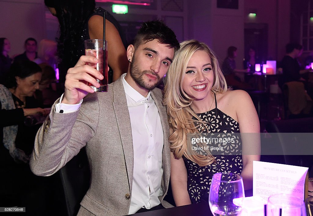 Tom Parker and Kelsey Hardwick attend The London Cabaret Club launch party at The Bloomsbury Ballroom on May 4, 2016 in London, England.