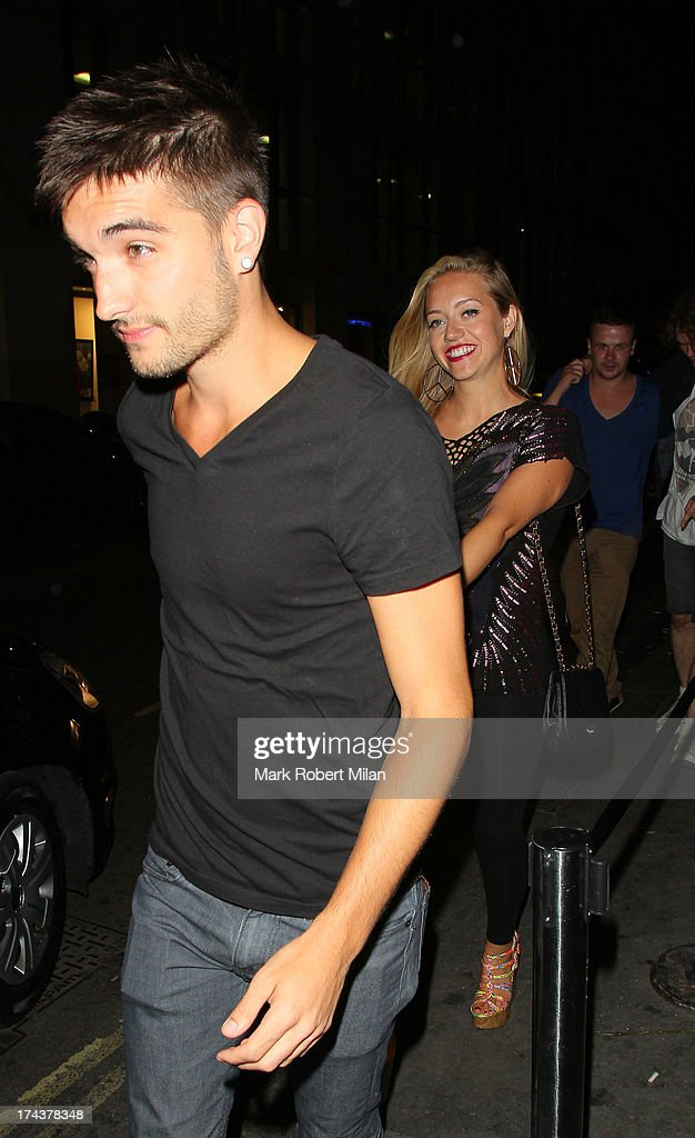 Tom Parker at Mahiki night club on July 24, 2013 in London, England.