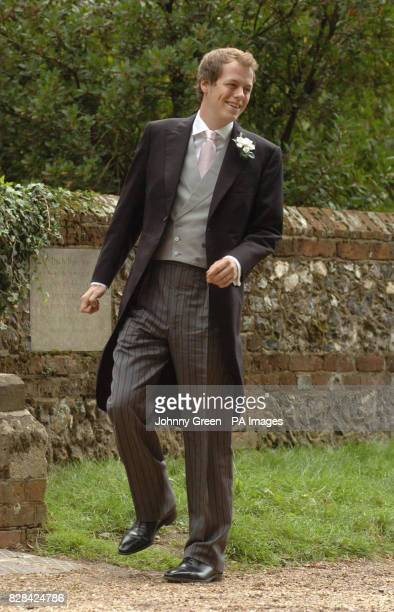 Tom Parker Bowles arrives at Saint Nicholas Church in Rotherfield Greys Berkshire Saturday September 10 for his marriage ceremony to Sara Buys...