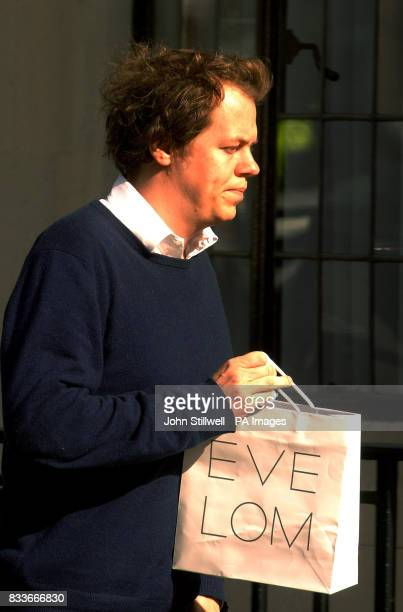 Tom Parker Bowles arrives at the King Edward VII Hospital in central London to visit his mother the Duchess of Cornwall who is convalescing following...
