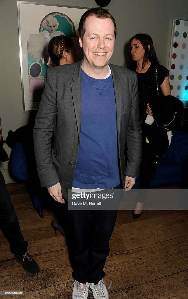 Tom Parker Bowles attend event planner Paul Rowe's 40th birthday party at The Groucho Club on April 3, 2013 in London, England.