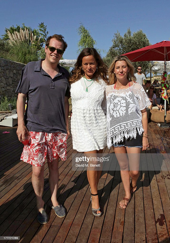 Tom Parker Bowles, <a gi-track='captionPersonalityLinkClicked' href=/galleries/search?phrase=Jade+Jagger&family=editorial&specificpeople=203052 ng-click='$event.stopPropagation()'>Jade Jagger</a> and Sara Parker Bowles attend the Ibiza Summer Party at Can Batista on August 22, 2013 in Ibiza, Spain.