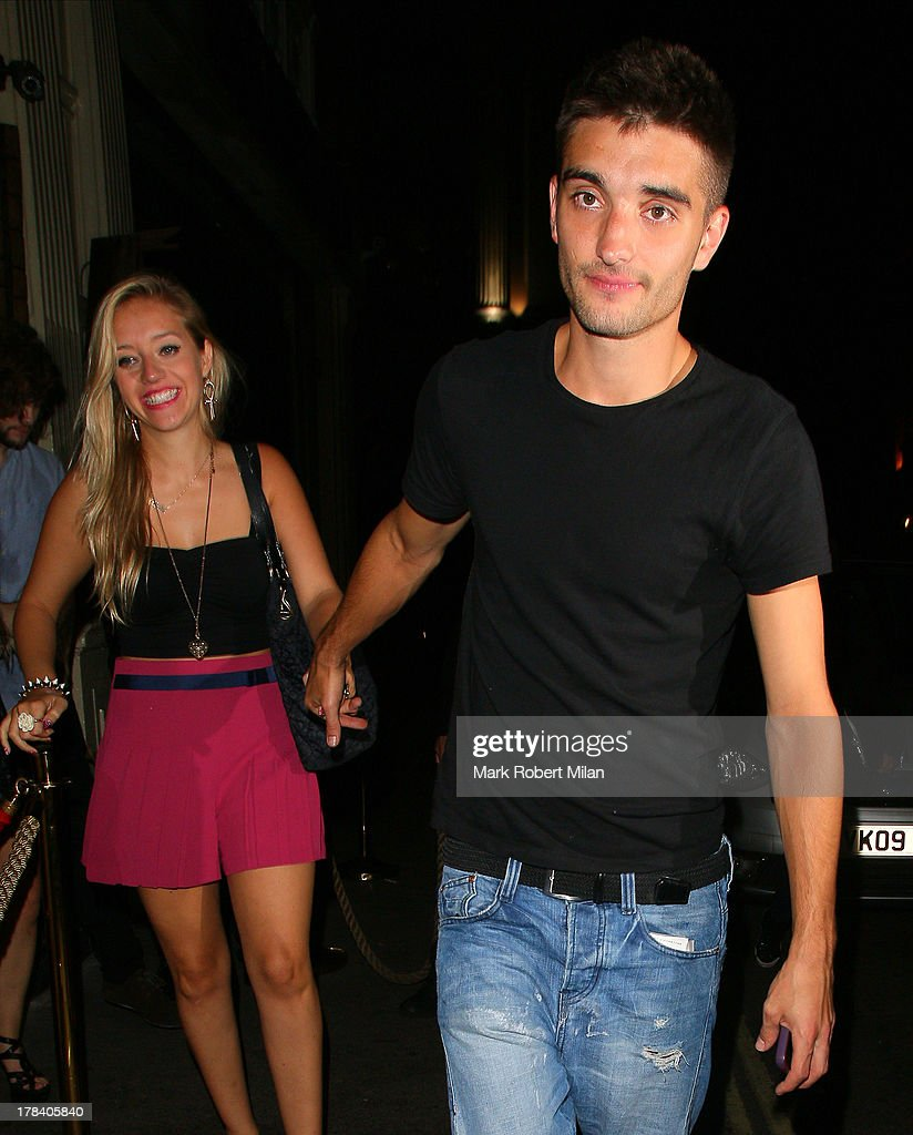 Tom Parker leaving Mahiki night club on August 29, 2013 in London, England.