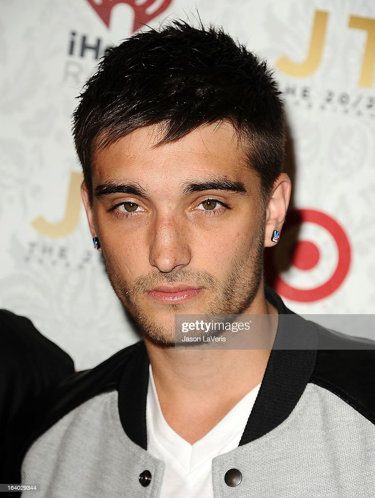 Tom Parker of The Wanted attends the '20/20' album release party with Justin Timberlake at El Rey Theatre on March 18, 2013 in Los Angeles, California.