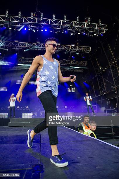 Tom Parker of The Wanted performs onstage during day 2 of Fusion Festival 2014 on August 31 2014 in Birmingham England