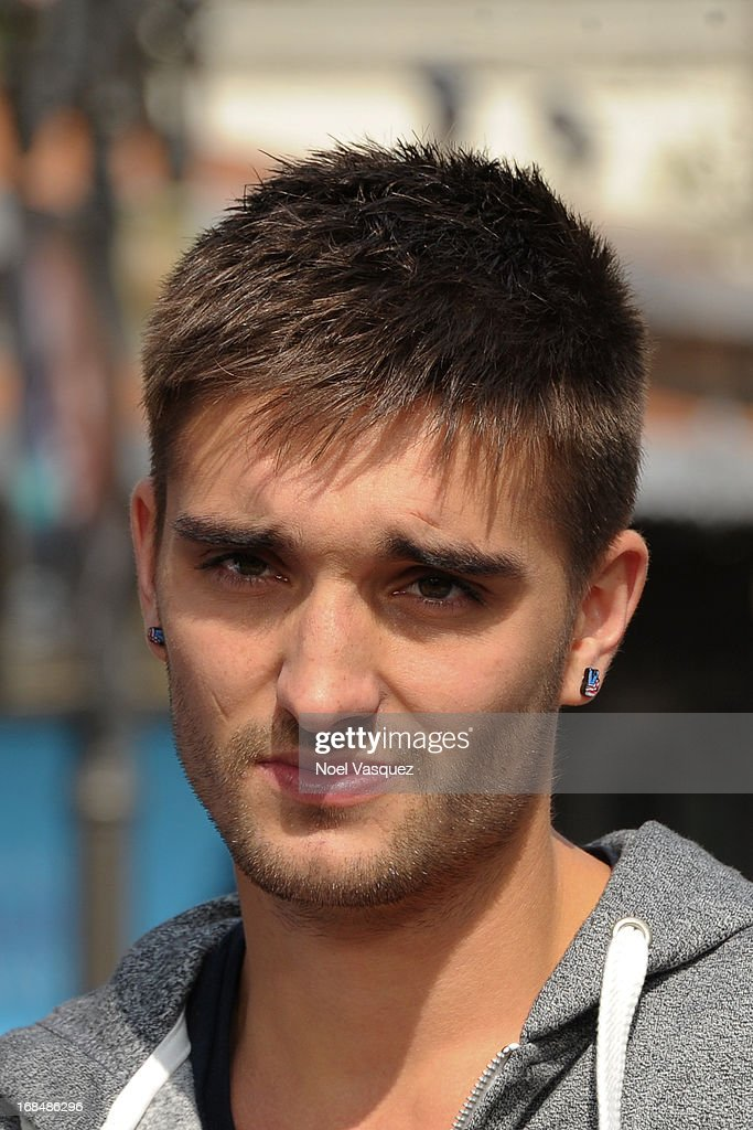 Tom Parker of The Wanted visits 'Extra' at The Grove on May 9, 2013 in Los Angeles, California.