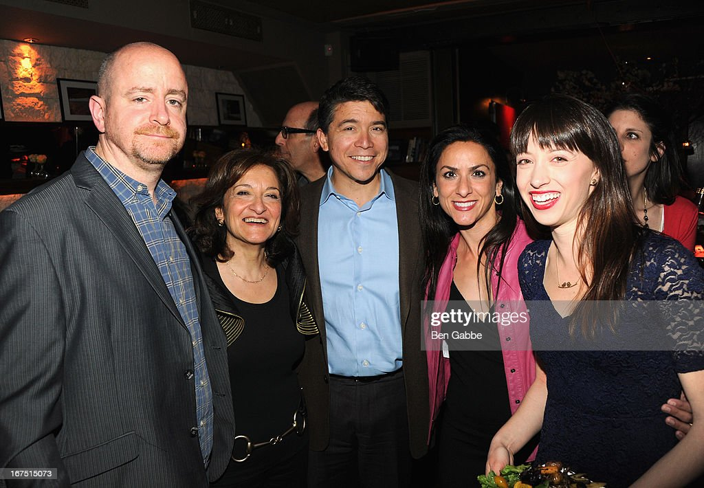 Tom Patterson, Erica Pachoir and guests attend the Out of Print Tribeca Film Festival After Party on April 25, 2013 in New York City.