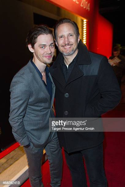 Tom Payne and Benno Fuehrmann attend the NRW Reception at the Landesvertretung on February 9 2014 in Berlin Germany