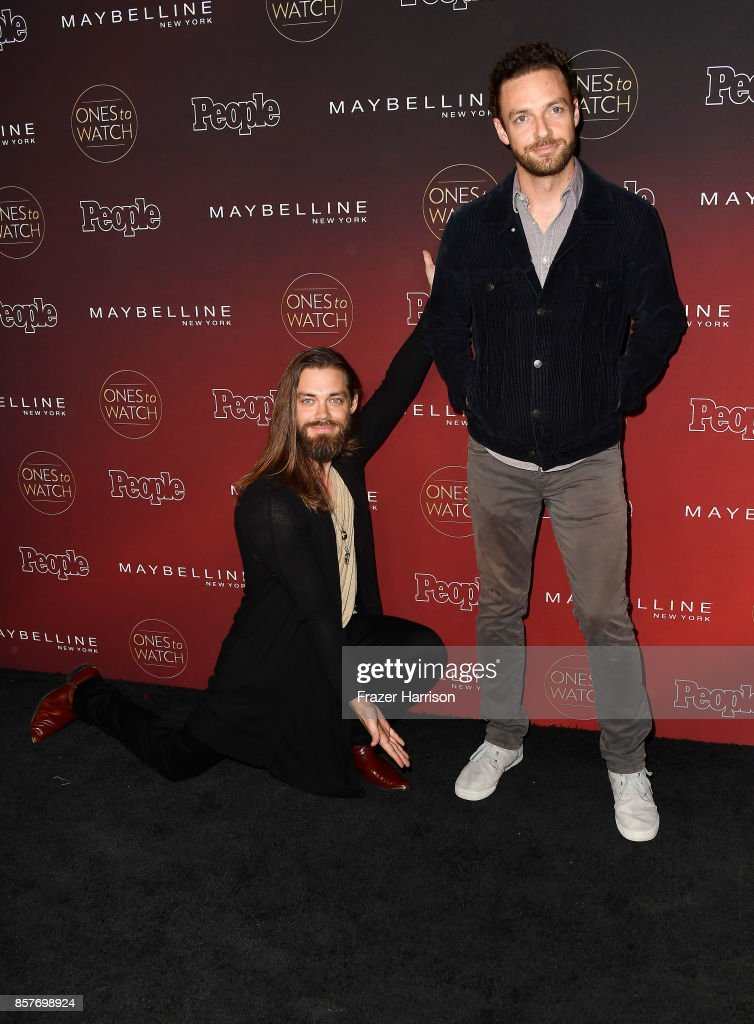 Tom Payne and Ross Marquand attend People's 'Ones To Watch' at NeueHouse Hollywood on October 4, 2017 in Los Angeles, California.