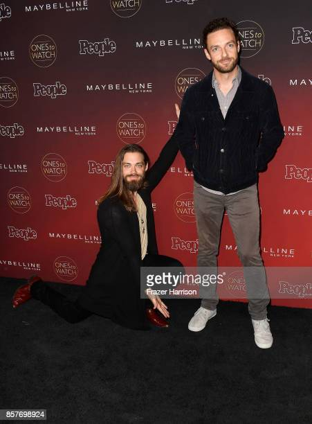 Tom Payne and Ross Marquand attend People's 'Ones To Watch' at NeueHouse Hollywood on October 4 2017 in Los Angeles California