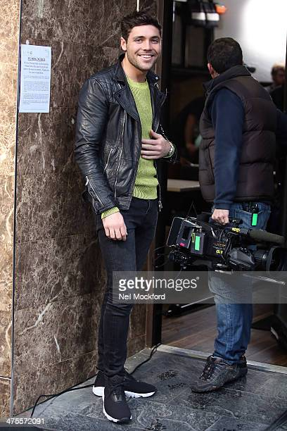 Tom Pearce seen filming TOWIE in South Woodford on February 28 2014 in London England