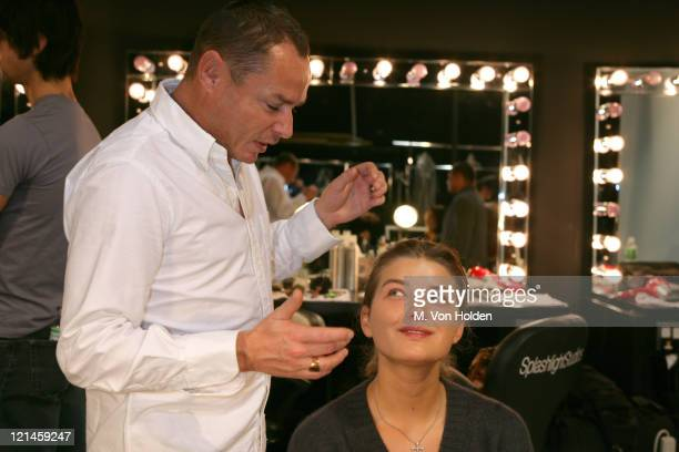 Tom Pecheaux during Olympus Fashion Week Fall 2006 Doo Ri 'Shiseido' Cosmetics with Celebrity Makeup Artist Tom Pecheux backstage at Splashlight...