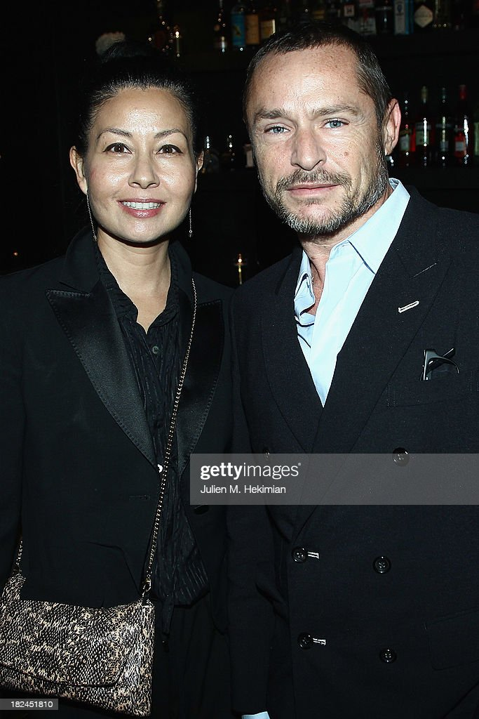 Tom Pecheux and guest attend the Glamour dinner for Patrick Demarchelier as part of the Paris Fashion Week Womenswear Spring/Summer 2014 at Monsieur Bleu restaurant on September 29, 2013 in Paris, France.