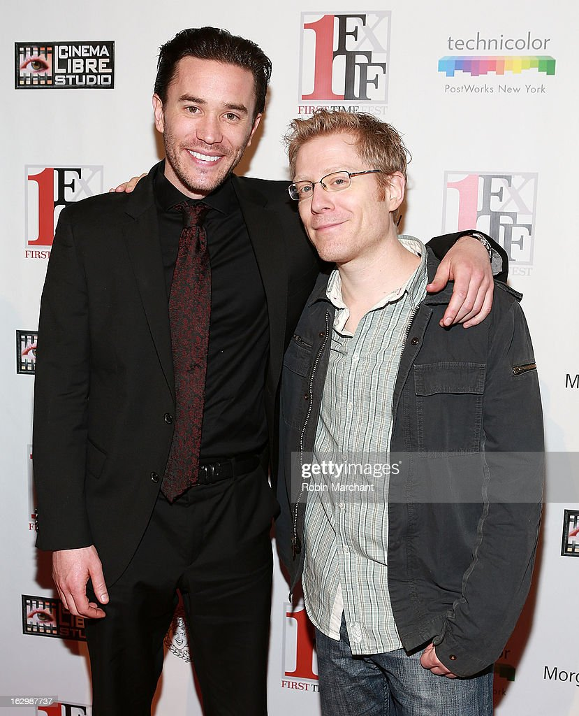 Tom Pelphrey (L) and <a gi-track='captionPersonalityLinkClicked' href=/galleries/search?phrase=Anthony+Rapp&family=editorial&specificpeople=584008 ng-click='$event.stopPropagation()'>Anthony Rapp</a> attend 'Junction' during the 2013 First Time Fest at AMC Loews Village 7 on March 2, 2013 in New York City.