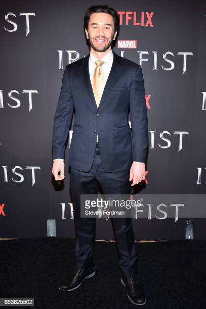 Tom Pelphrey arrives at the New York screening of Marvel's 'Iron Fist' at AMC Empire 25 on March 15 2017 in New York City