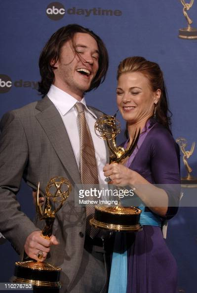 Tom Pelphrey winner of Outstanding Younger Actor in a Drama Series and Gina Tognoni winner of Outstanding Supporting Actress in a Drama Series