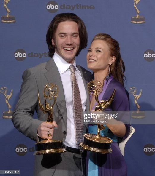 Tom Pelphrey winner Outstanding Younger Actor in a Drama Series and Gina Tognoni winner Outstanding Supporting Actress in a Drama Series both for...