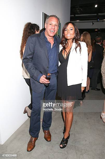 Tom Penna and Keri Ann Kimball attend the 'Blue Nudes' exhibition at De Re Gallery on May 28 2015 in West Hollywood California