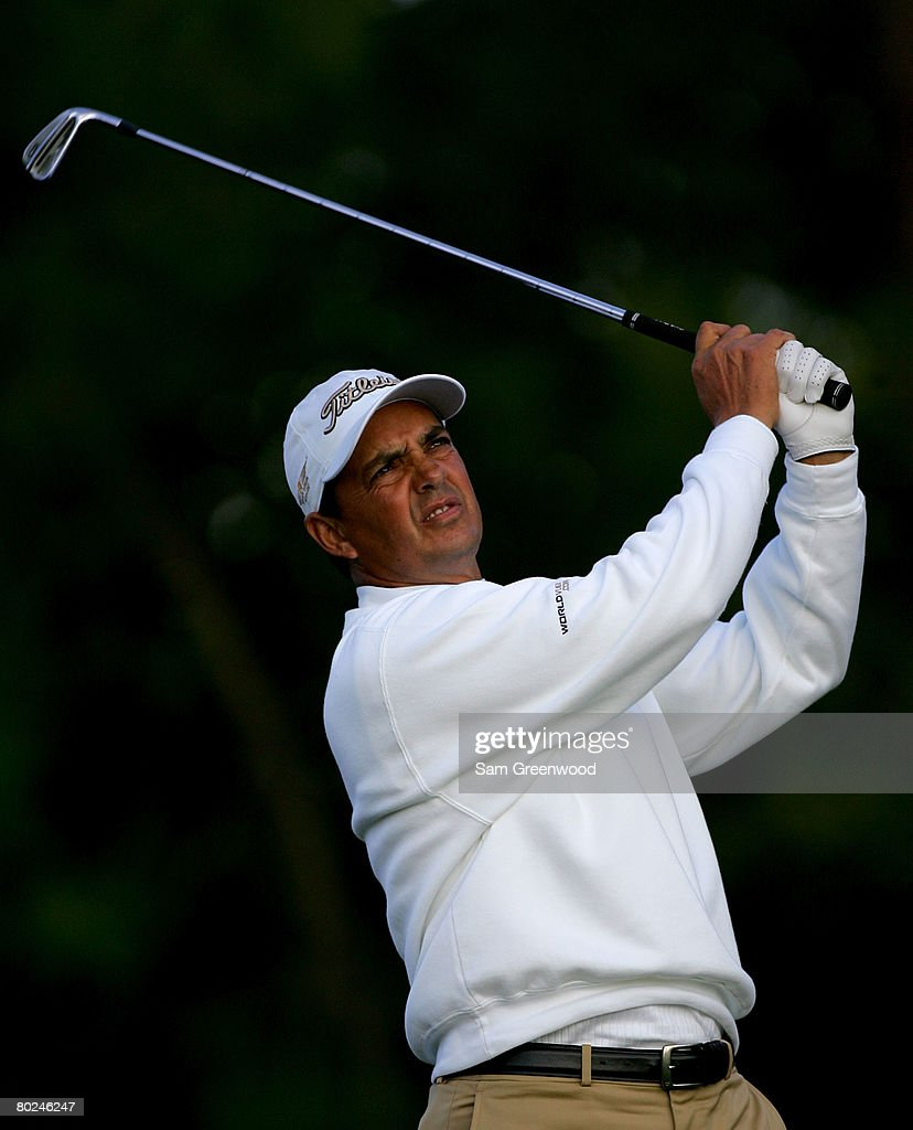 Tom Pernice Jr. hits on the 12th hole during the continuation of the second round of the PODS Championship at Innisbrook Resort and Golf Club on March 8, 2008 in Palm Harbor, Florida.