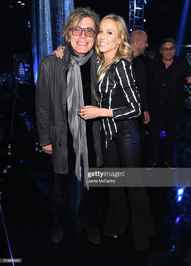 Tom Petersson and Sheryl Crow attend the 31st Annual Rock And Roll Hall Of Fame Induction Ceremony at Barclays Center of Brooklyn on April 8, 2016 in New York City.