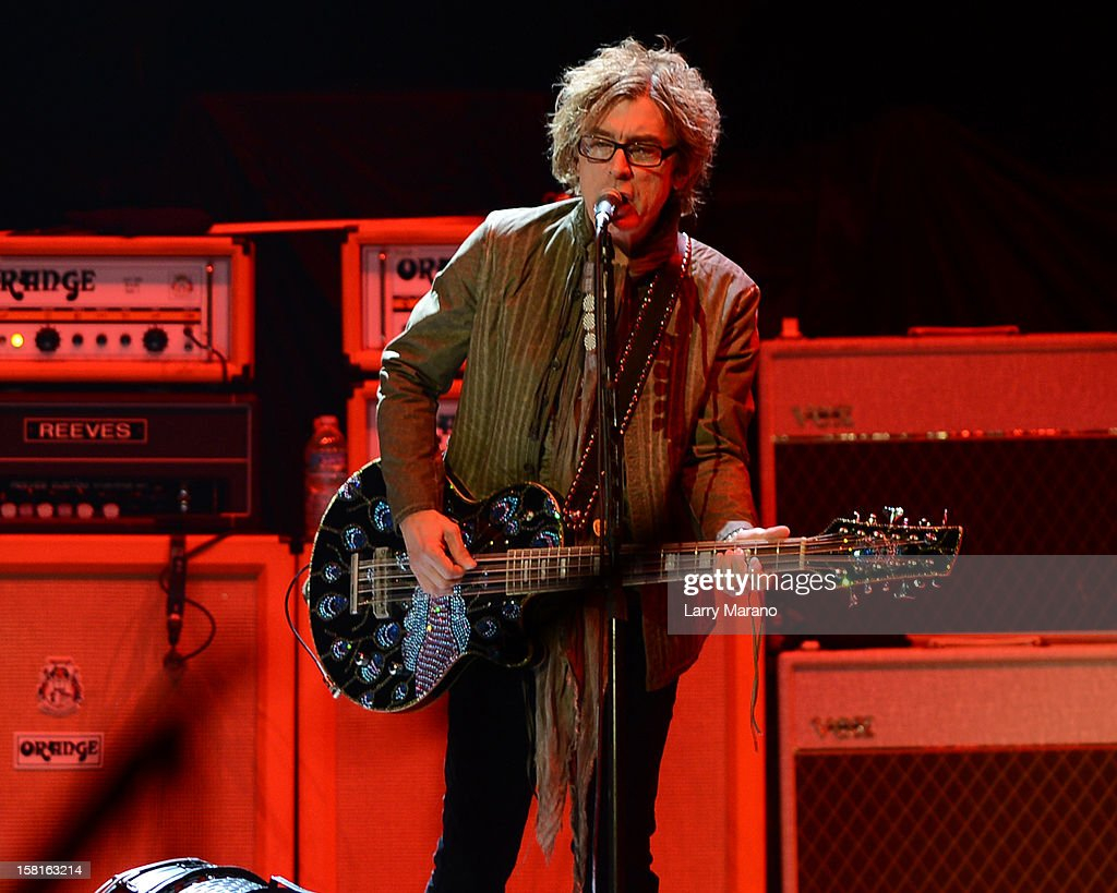 Tom Petersson of Cheap Trick performs at BB&T Center on December 9, 2012 in Sunrise, Florida.
