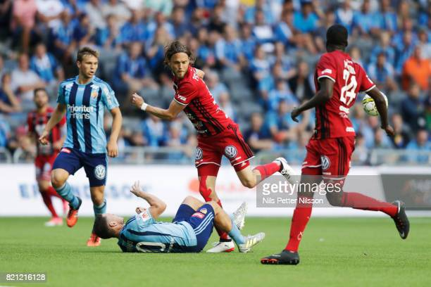 Tom Pettersson of Ostersunds FK during the Allsvenskan match between Djurgardens IF and Ostersunds FK at Tele2 Arena on July 23 2017 in Stockholm...