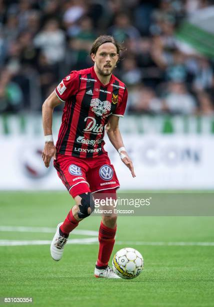 Tom Pettersson of Ostersunds FK during the Allsvenskan match between Hammarby IF and Ostersunds FK at Tele2 Arena on August 14 2017 in Stockholm...