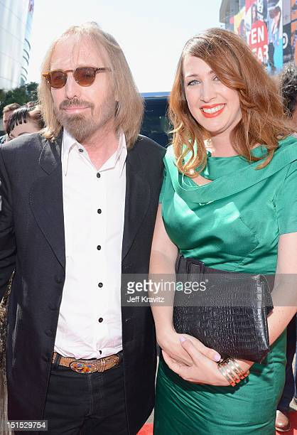 Tom Petty and Adria Petty arrive at the 2012 MTV Video Music Awards at Staples Center on September 6 2012 in Los Angeles California