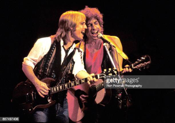 Tom Petty and Bob Dylan perform at Great Woods Pavilion in Mansfield MA July 8 1968