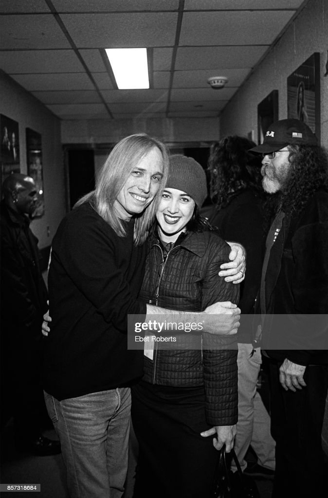 Tom Petty and daughter Adria Petty backstage at Madison Square Garden in New York City on December 13, 2002 .