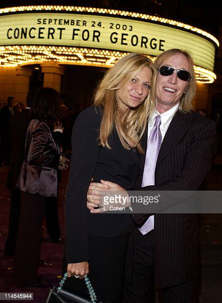 Tom Petty and his wife Dana at the premiere of 'Concert for George' a new documentary film celebrating the music of George Harrison through...