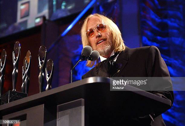 Tom Petty and the Heartbreakers during The 17th Annual Rock and Roll Hall of Fame Induction Ceremony Show at WaldorfAstoria in New York New York...