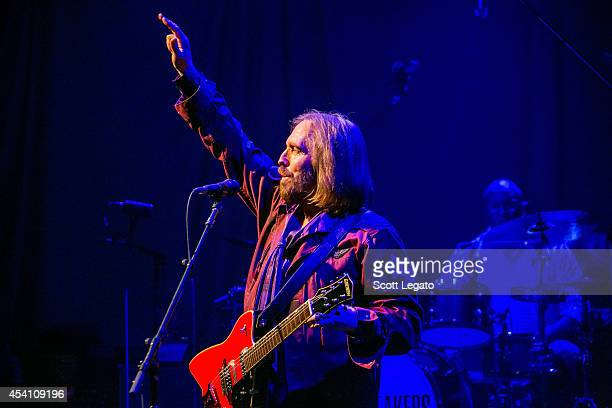 Tom Petty and the Heartbreakers perform at DTE Energy Music Theater on August 24 2014 in Clarkston Michigan