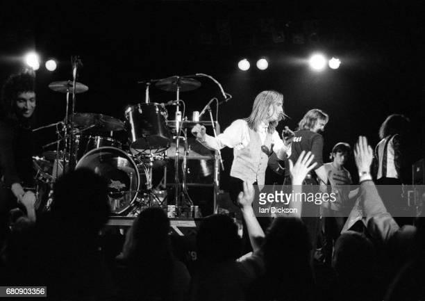 Tom Petty And The Heartbreakers performing on stage at Hammersmith Odeon London 15 May 1977 United Kingdom debut gig supporting Nils Lofgren