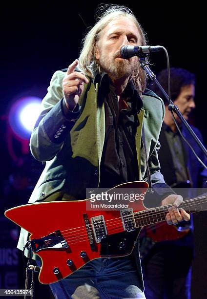 Tom Petty of Tom Petty and the Heartbreakers performs in support of the band's 'Hypnotic Eye' release at Red Rocks Amphitheatre on September 30 2014...