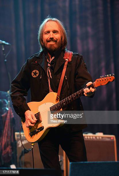 Tom Petty of Tom Petty and the Heartbreakers performs onstage at the Firefly Music Festival at The Woodlands of Dover International Speedway on June...