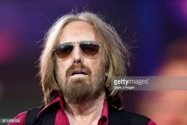 Tom Petty of Tom Petty The Heartbreakers performs on stage at the Barclaycard Presents British Summer Time Festival in Hyde Park on July 9 2017 in...